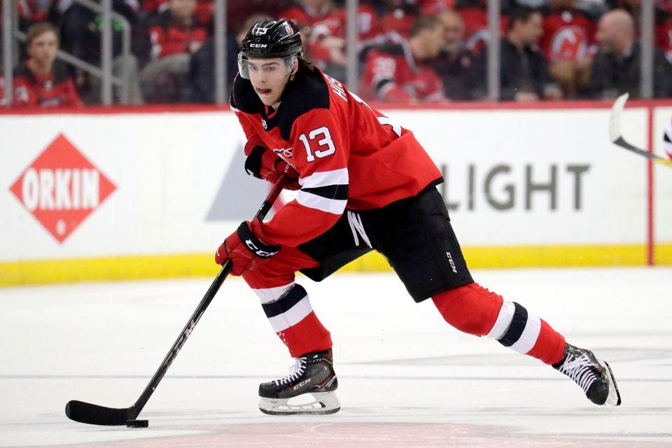 Pour sa 1re saison en NHL, le Valaisan a comptabilisé 53 points. [Julio Cortez - Keystone]