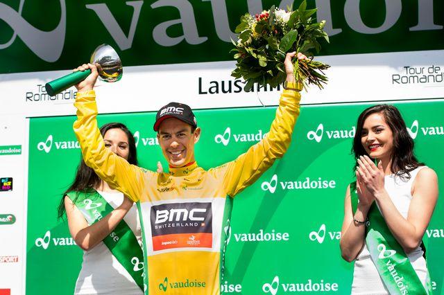 Richie Porte avait triomphé lors de l'arrivée du TDR à Lausanne en 2017. [Jean-Christophe Bott - Keystone]