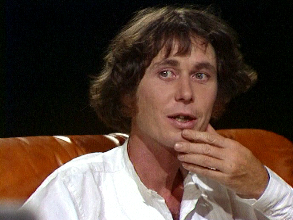 L'écrivain valaisan Jean-Marc Lovay en 1978. [RTS]