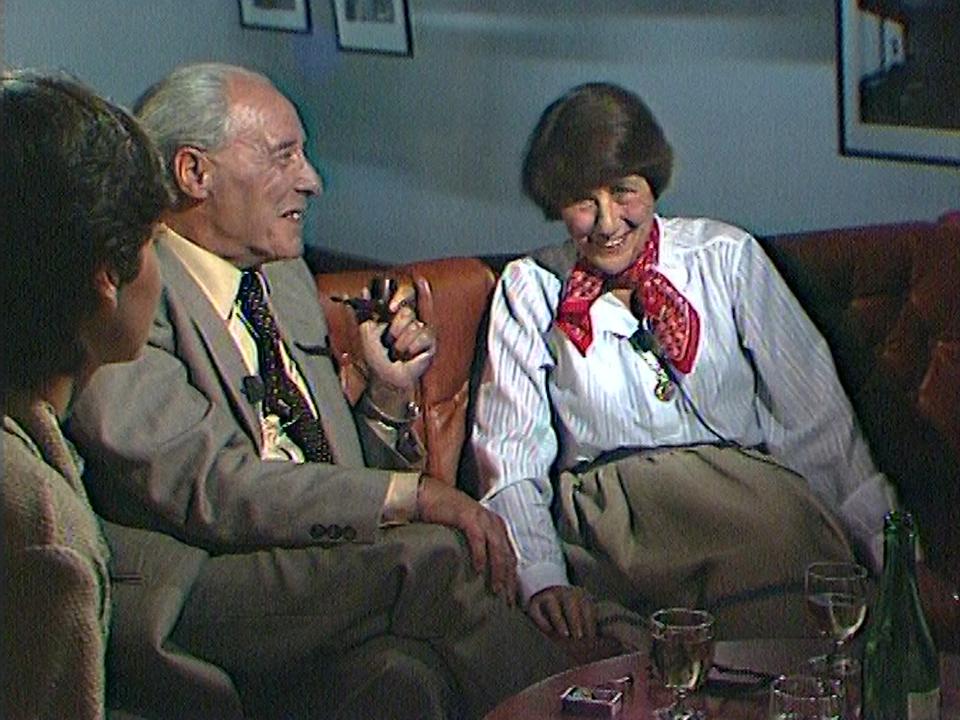 Maurice Zermatten, Pierrette Micheloud, écrivains valaisans. [RTS]