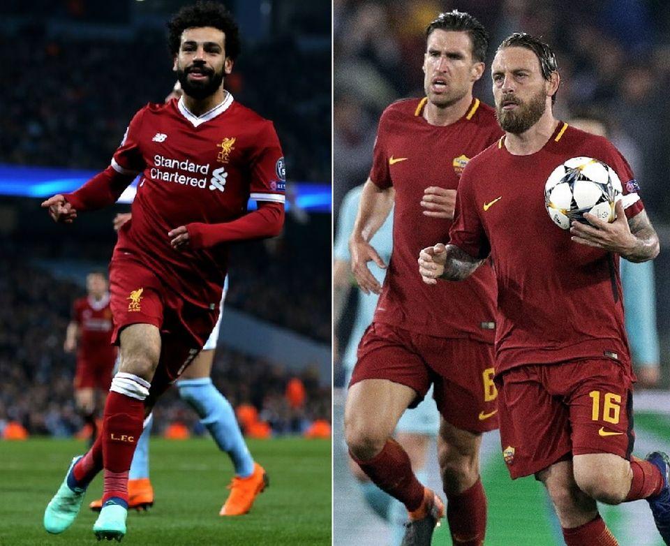 Daniele De Rossi et Kevin Strootman parviendront-ils à freiner les Reds et Mohamed Salah? [N.Roddis/A.Medichini - Keystone]