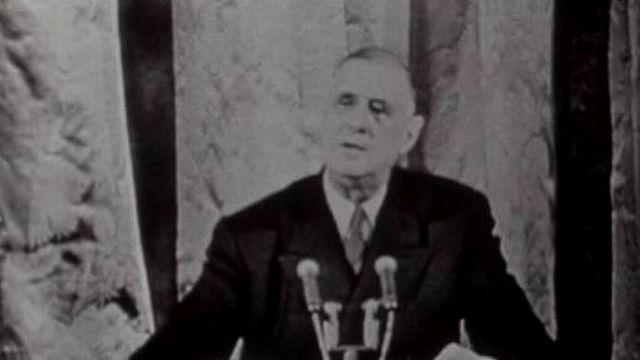 Le général de Gaulle en 1968. [RTS]