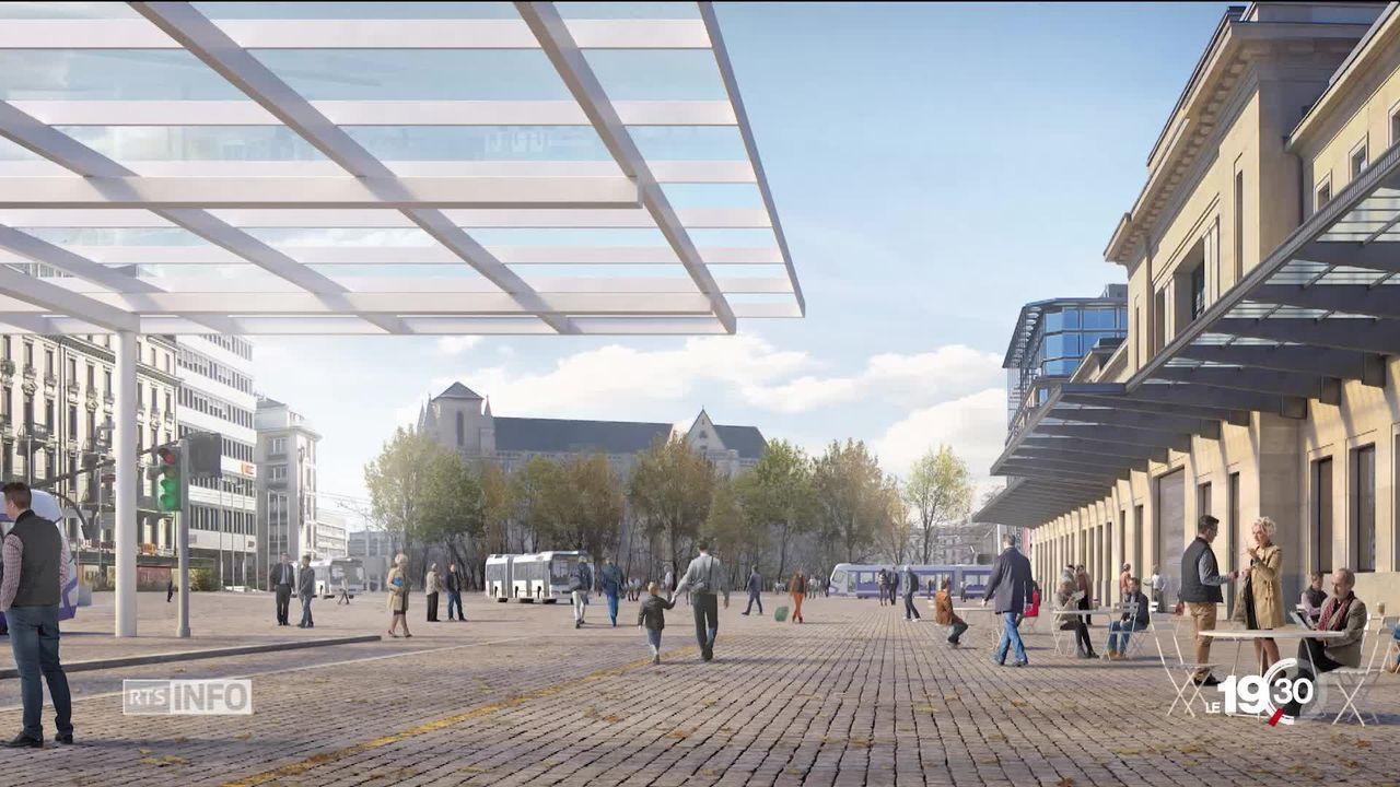 Genève: la place de Cornavin sera plus conviviale [RTS]