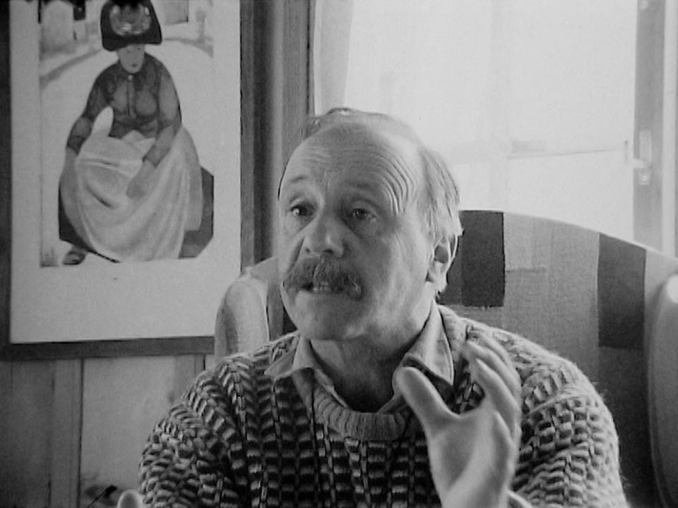 L'écrivain valaisan Maurice Chappaz en 1973. [RTS]
