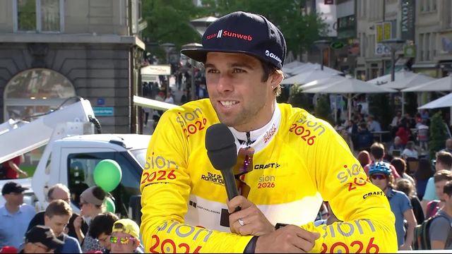 Prologue, Fribourg: l'interview de Michael Matthews (AUS) sur le plateau de RTSsport [RTS]