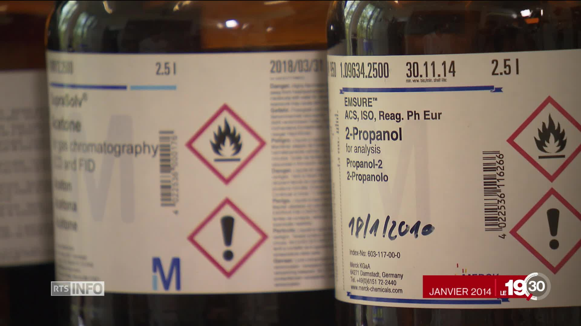 Suisse-Syrie: embarrassante exportation d'isopropanol
