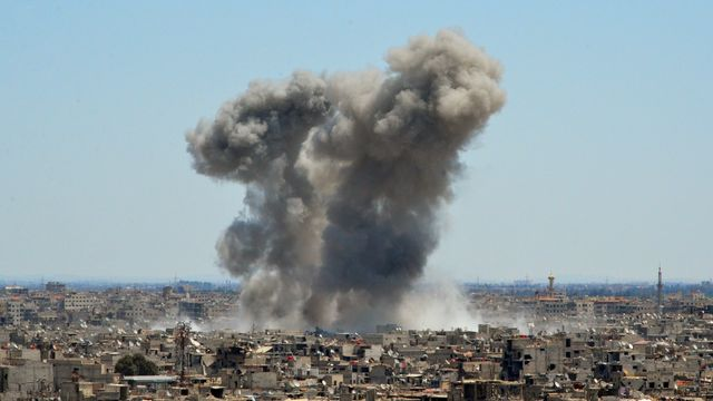 La Belgique a aussi été épinglée pour avoir exporté des produits chimiques vers la Syrie. [Maher Al Mounes - AFP]