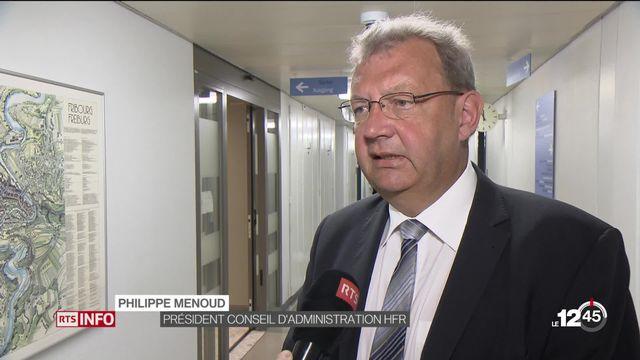 Déficit de l'Hôpital fribourgeois: réaction de Philippe Menoud, président Conseil d'administration HFR [RTS]