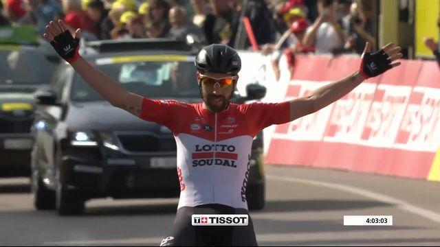 2e étape, Delémont-Yverdon-Les-Bains: Thomas De Gendt (BEL) s'impose en solitaire [RTS]
