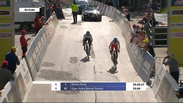 3e étape, Ollon-Villars: victoire d'Egan Bernal (COL) lors du contre-la-montre [RTS]