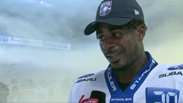 Acte VII, finale, Lugano - Zurich (0-2): Dave Sutter au micro de RTSsport après son titre de champion [RTS]
