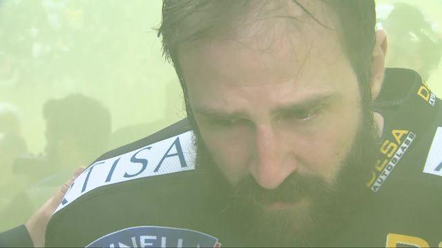 Acte VII, finale, Lugano - Zurich (0-2): la déception de Sébastien Reuille après le match 7 [RTS]