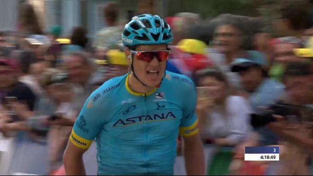 4e étape, Sion - Sion: victoire de Jakob Fuglsang (DEN) [RTS]