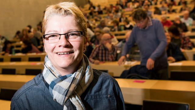 Barbara Lanthemann, secrétaire romande de l'Organisation Suisse des Lesbiennes (LOS). [Jean-Christophe Bott - Keystone]