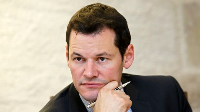 Pierre Maudet, conseiller d'Etat genevois en charge du département de la sécurité. [Salvatore Di Nolfi - Keystone]