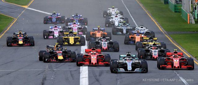 Des Formules 1 lors du premier grand prix de la saison [Jo Castro - EPA/Keystone]