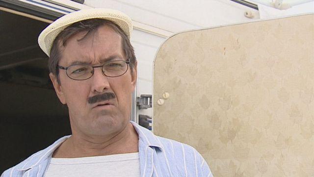 Un des personnages de campeur campé par François Silvant. [RTS]