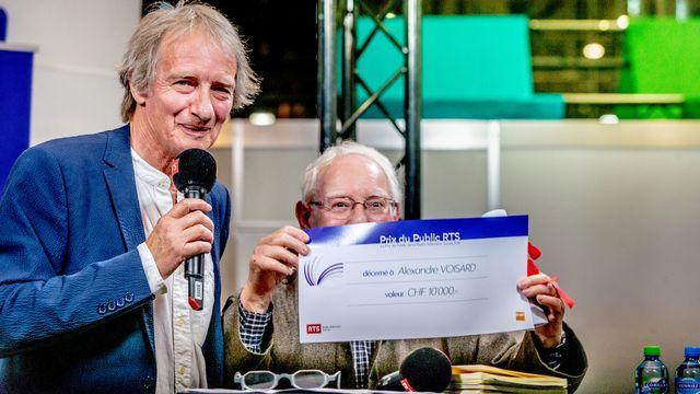 Patrick Ferla et Alexandre Voisard, lauréat du Prix du public RTS 2018. David Wagnières RTS [David Wagnières - RTS]