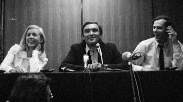 Michel Soutter au Festival de Cannes en 1972. [RTS]