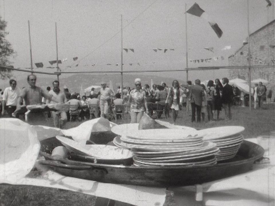 Des journalistes au Festival de Cannes en 1971. [RTS]