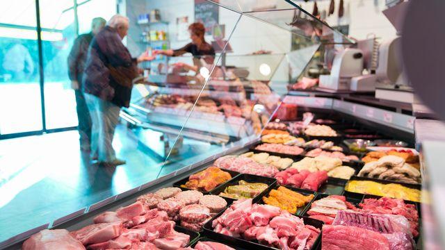 Les boucheries sont les cibles d'activistes antispécistes. (Image d'illustration) [Gaetan Bally - keystone]
