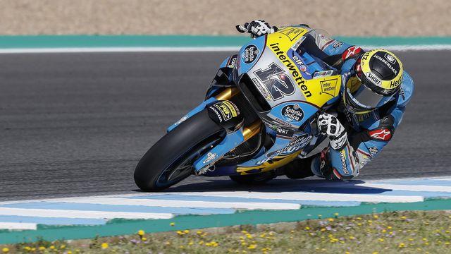 Thomas Lüthi commencera le GP d'Espagne à la 18e position sur la grille de départ. [Jose Manuel Vidal - Keystone]
