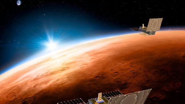 La sonde InSight devrait atterrir sur Mars le 26 novembre. [NASA - JPL-Caltech via AP/Keystpone]