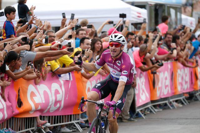Elia Viviani tient la forme en ce début de Giro. [Yuzuru Sunada - AFP]