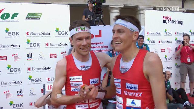 Championnats d'Europe, Mendrisio (SUI) messsieurs: Daniel Hubmann (SUI) et Matthias Kyburz (SUI) remportent la course [RTS]