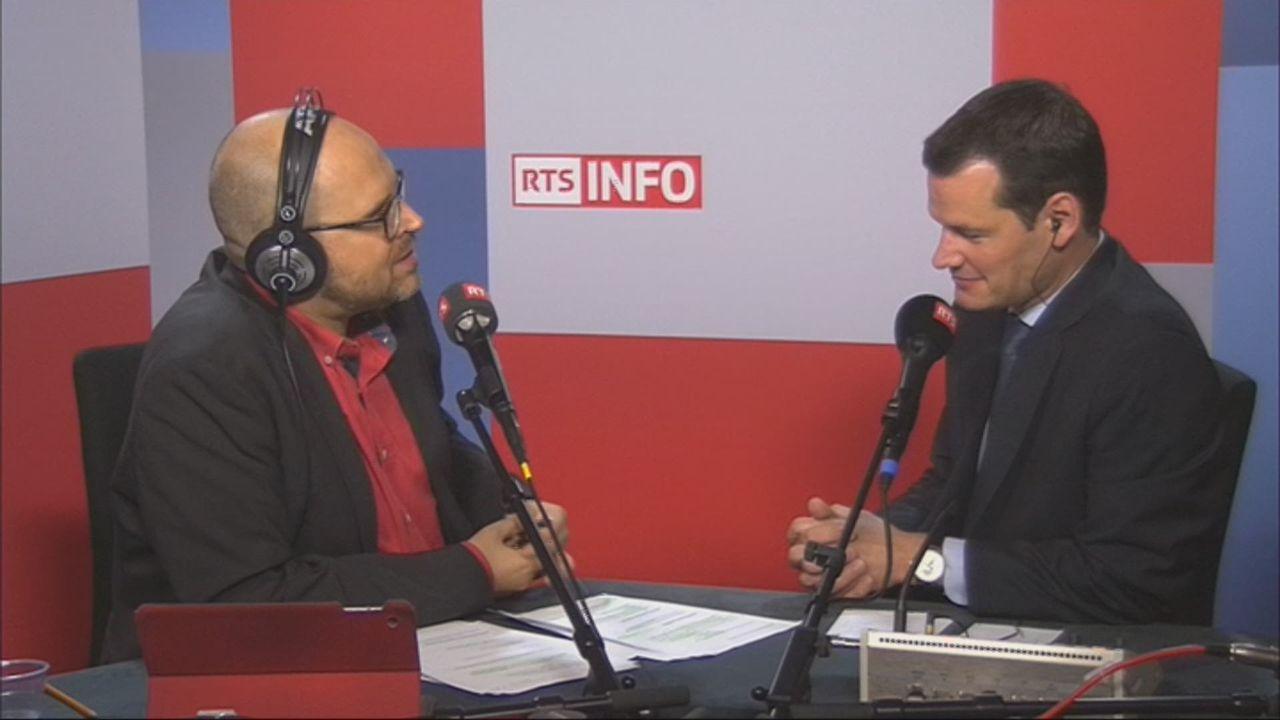 L'invité de Romain Clivaz (vidéo) - Pierre Maudet, conseiller d'Etat genevois PLR [RTS]