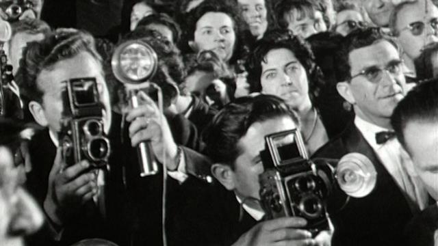 Foule au festival de Cannes, 1960. [RTS]