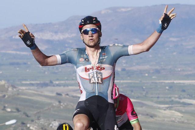 Wellens a décroché le 2e succès de sa carrière sur le Giro. [Luk Benies - AFP]