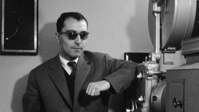 Le cinéaste Jean-Luc Godard en 1960. [RTS]