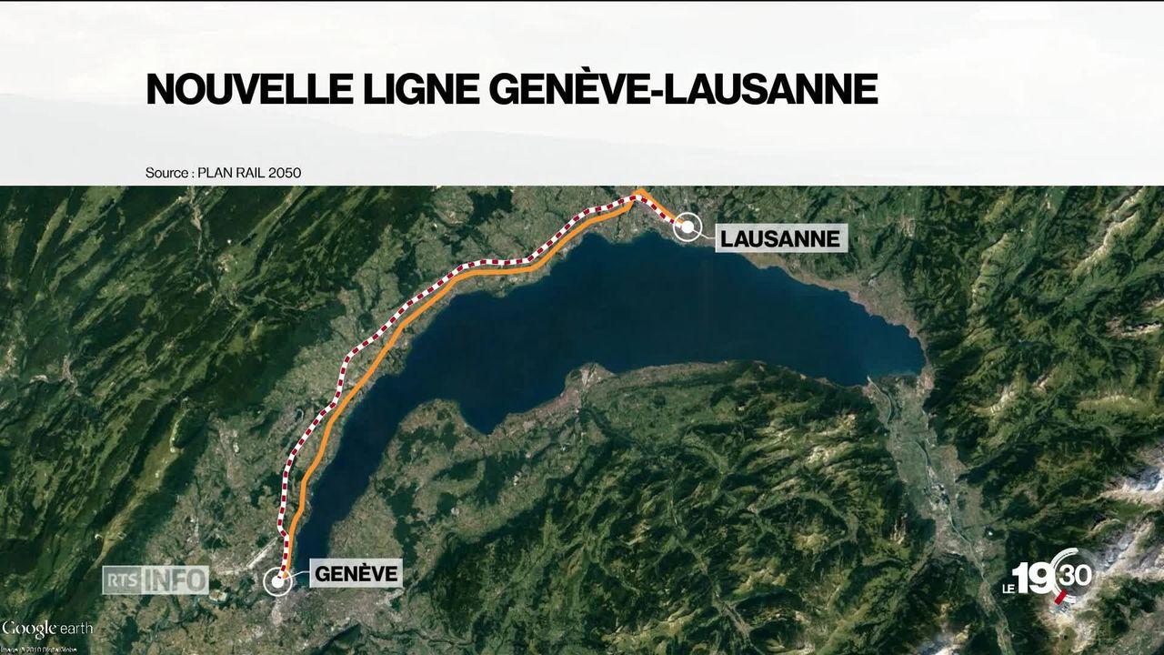 CFF Gen?ve - Lausanne: une nouvelle ligne le long de l'autoroute fait partie des options pour renforcer cet axe [RTS]
