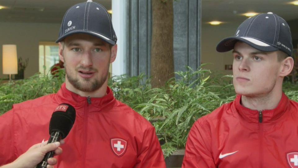 Hockey sur glace, interview croisée de Tristan Scherwey et Grégory Hofmann : partie 2 [RTS]