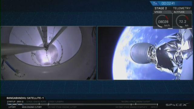 SpaceX lance avec succès sa fusée Falcon 9 [RTS]