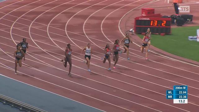 200m dames, Mujinga Kambundji (SUI) 5e [RTS]