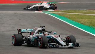 Lewis Hamilton a décroché la pole position du Grand Prix d'Espagne. [Manu Fernandez - Keystone]