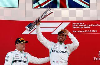 Lewis Hamilton a signé son deuxième succès de la saison dimanche. [Manu Fernandez - Keystone]