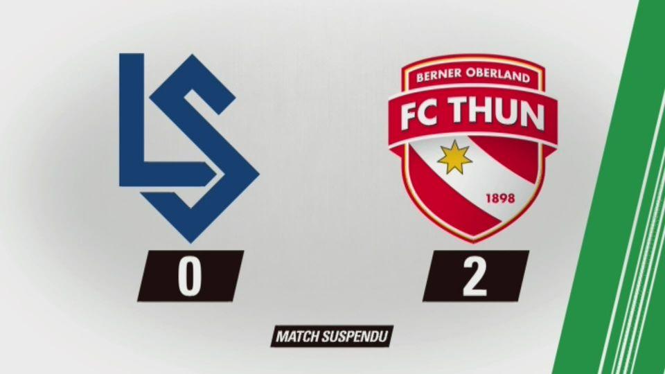 35e journée, Lausanne - Thoune (0-2): tous les buts de la rencontre [RTS]