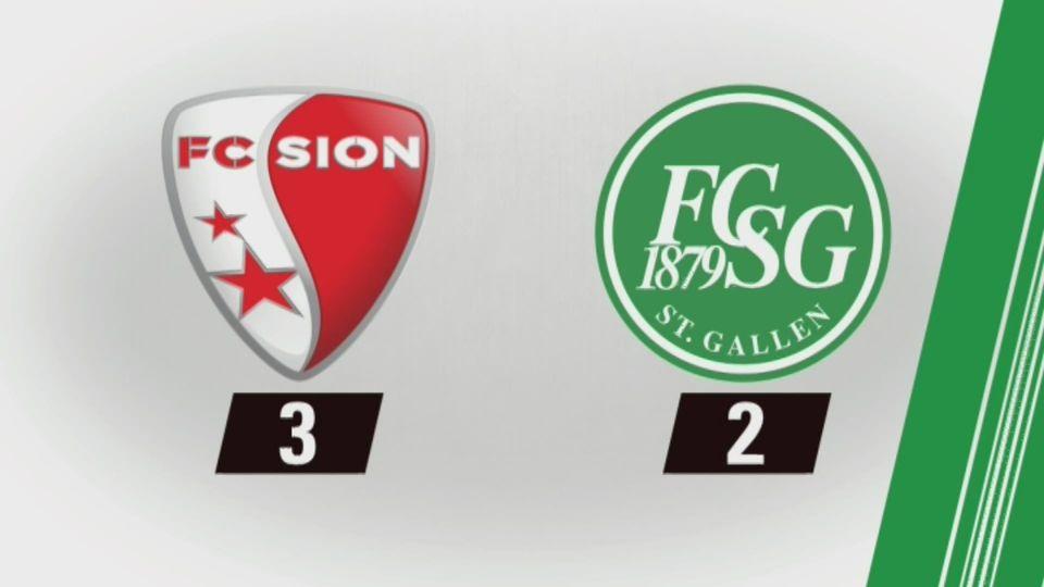 35e journée, Sion - St-Gall (3-2): tous les buts de la rencontre [RTS]