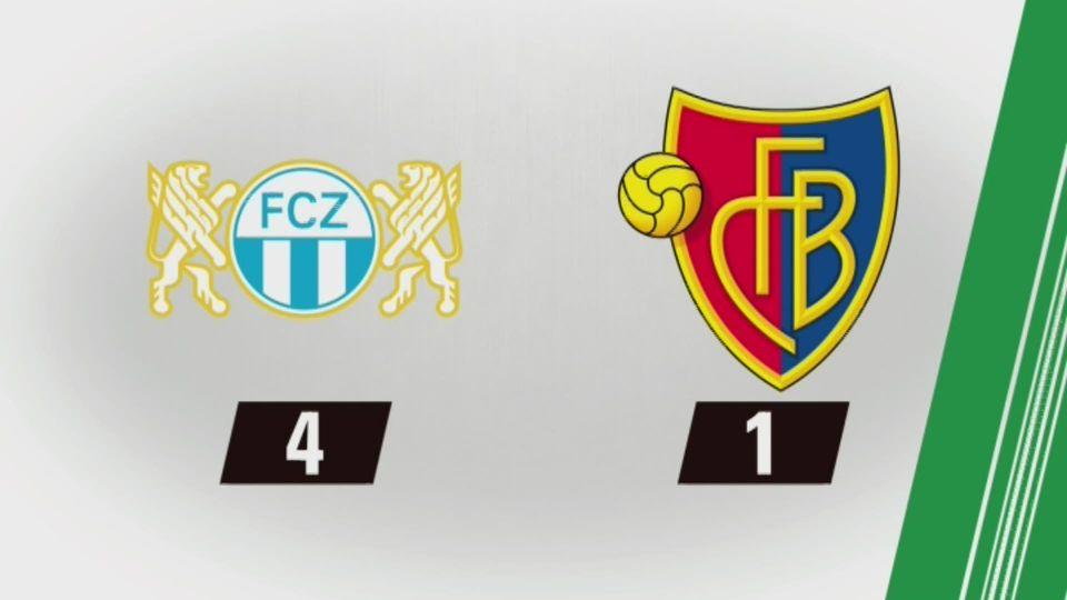 35e journée, Zurich - Bâle (4-1): tous les buts de la rencontre [RTS]
