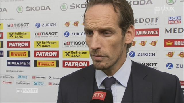 Groupe A, Suisse - France 5-1: Patrick Fischer à l'interview [RTS]