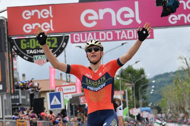 Matej Mohoric a gagné pour la première fois dans le Giro. [Twitter]