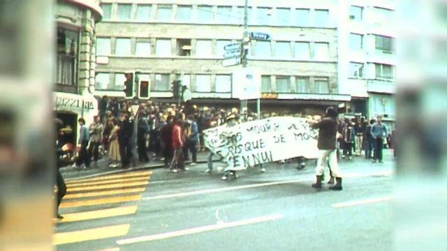 Mai 68: le mouvement avait pris une certaine ampleur à Lausanne [RTS]