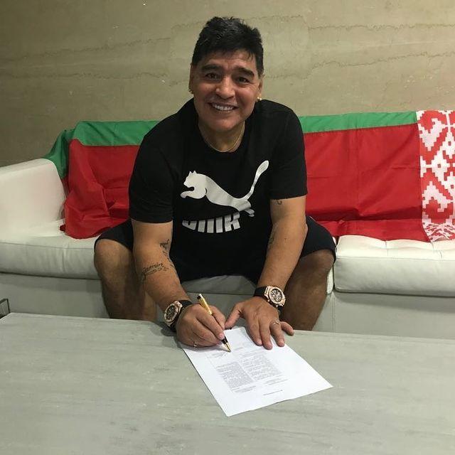 La photo publiée par Diego Maradona sur Instagram [Instagram]
