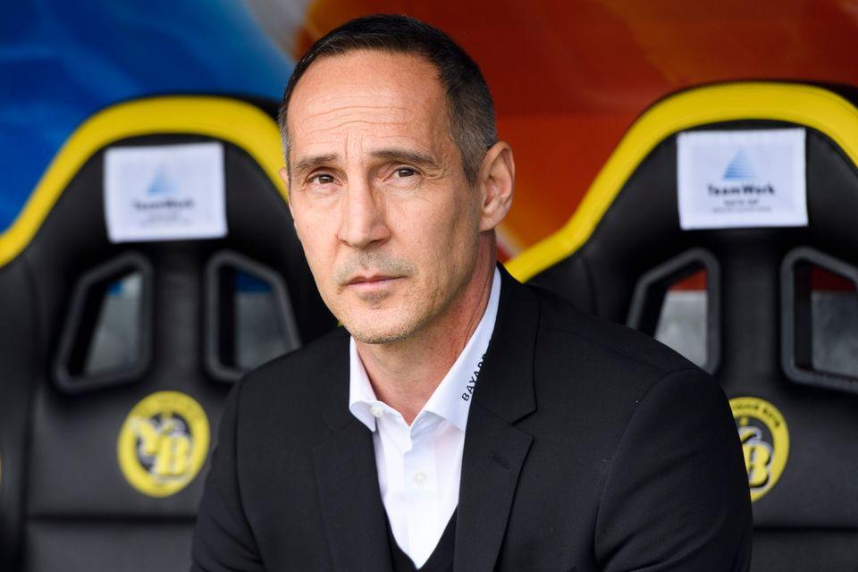 Adi Hütter ne sera plus l'entraîneur des Young Boys la saison prochaine. [Anthony Anex - Keystone]