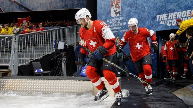 L'équipe de Suisse de hockey doit affronter la Finlande en quart de finale des Championnats du monde à Copenhague.  [Salvatore Di Nolfi - Keystone]