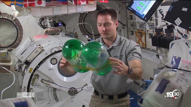 Fribourg: l'astronaute Thomas Pesquet a rencontré 2000 adolescents [RTS]
