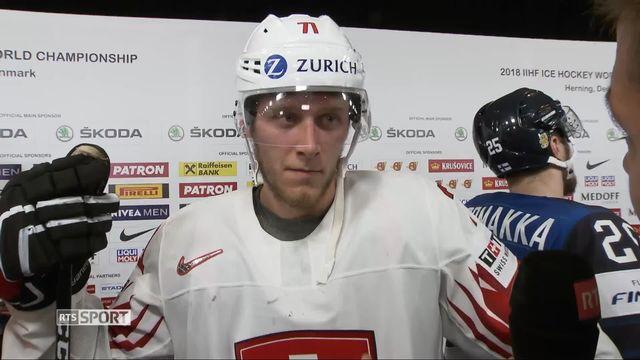 1-4 de finale, Finlande - Suisse 2-3: la réaction d'Enzo Corvi après la victoire [RTS]